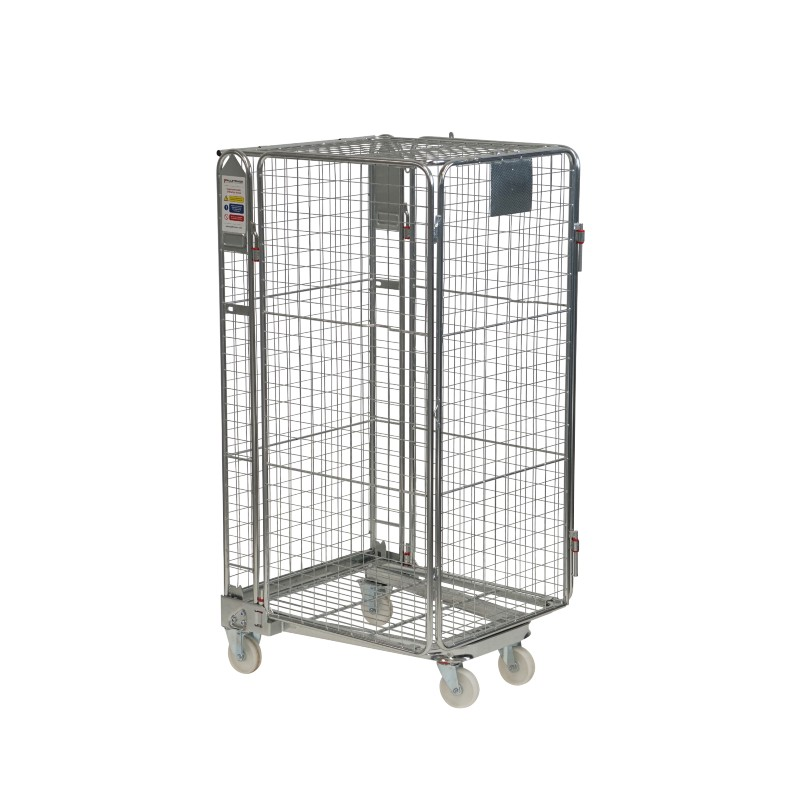 Budget Full Security Roll Container - Hinged Gate & Lid