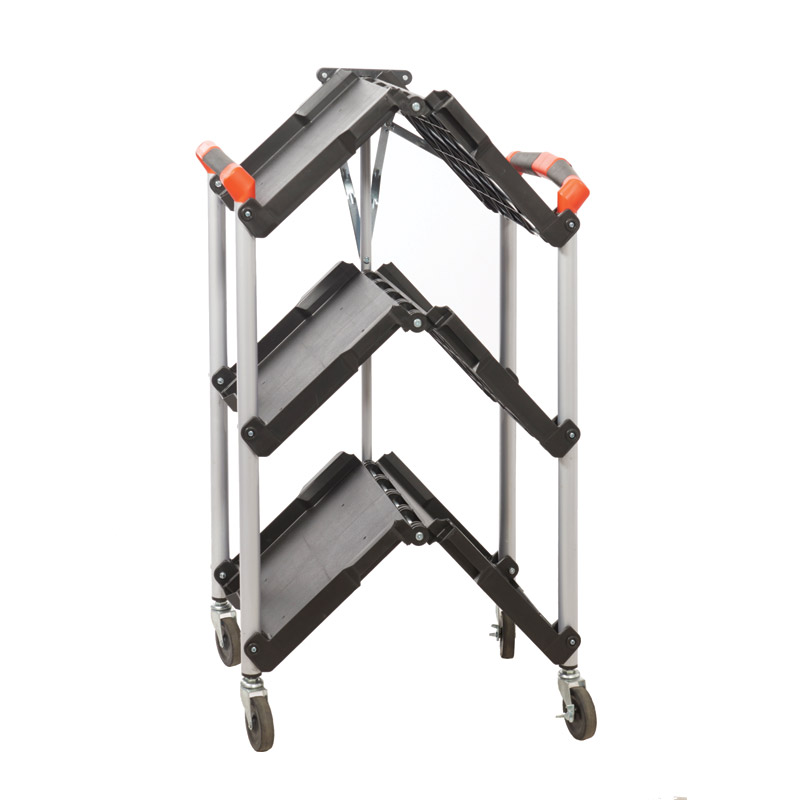 Folding Trolley - Polypropylene Shelves