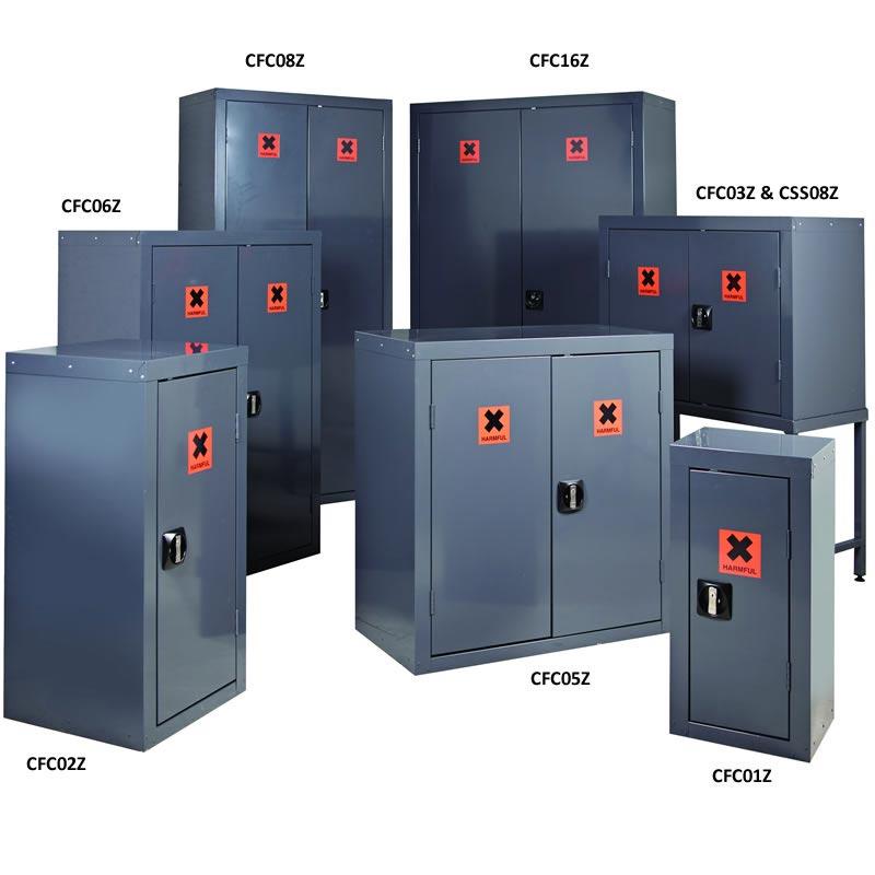 CoSHH Cabinets - 1 Door and 1 Shelf