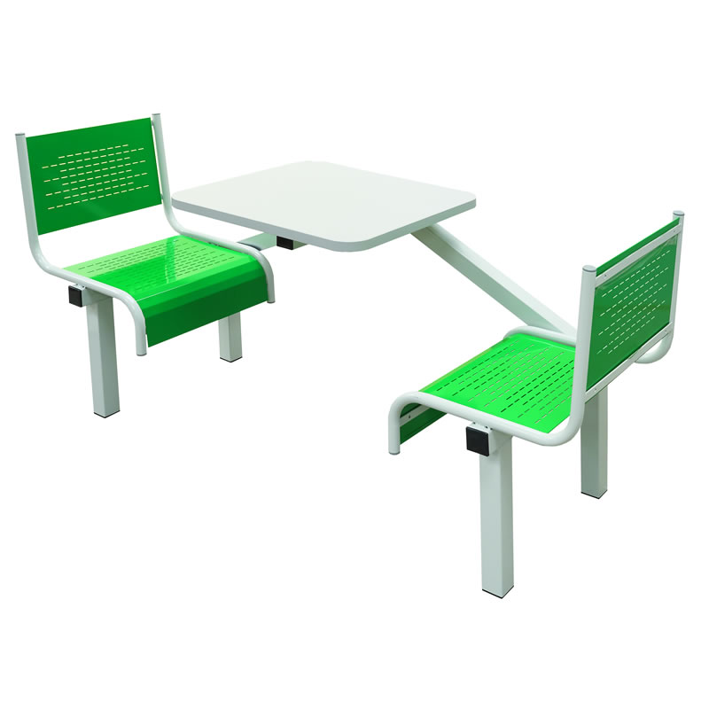 Canteen Tables - Steel Seats - 1 Way Entry