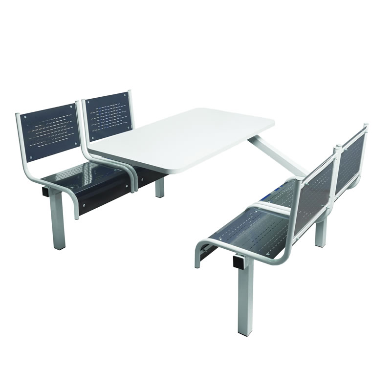 Canteen Tables - Steel Seats - 2 Way Entry