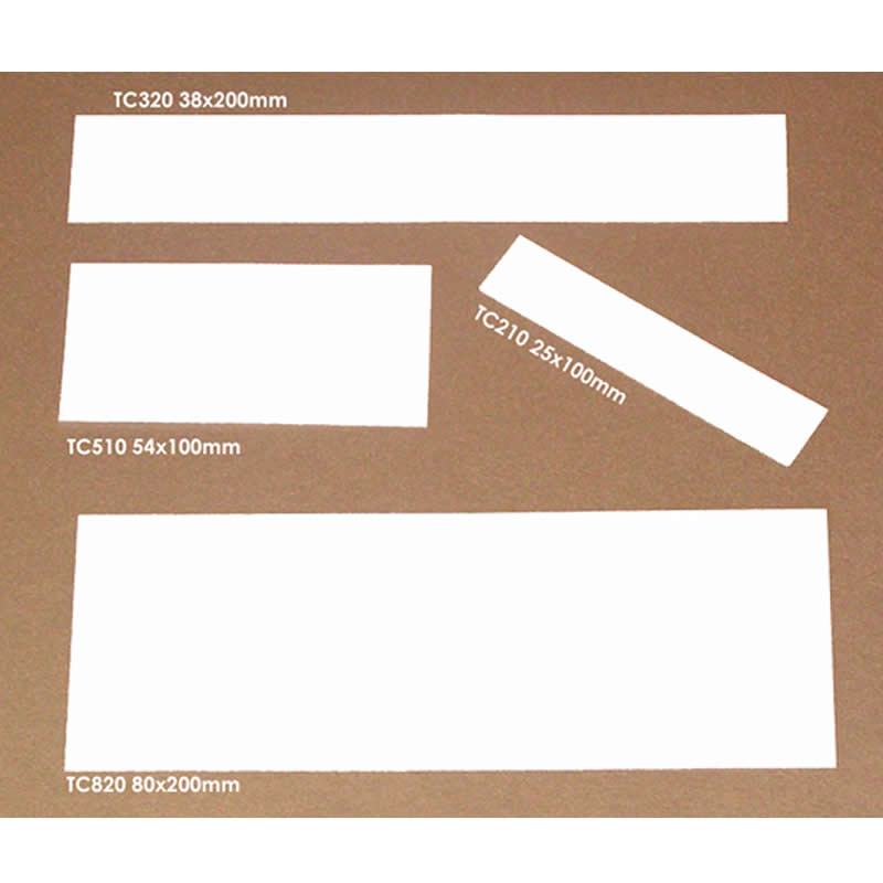 Card Inserts for Ticket Holders - 54mm High