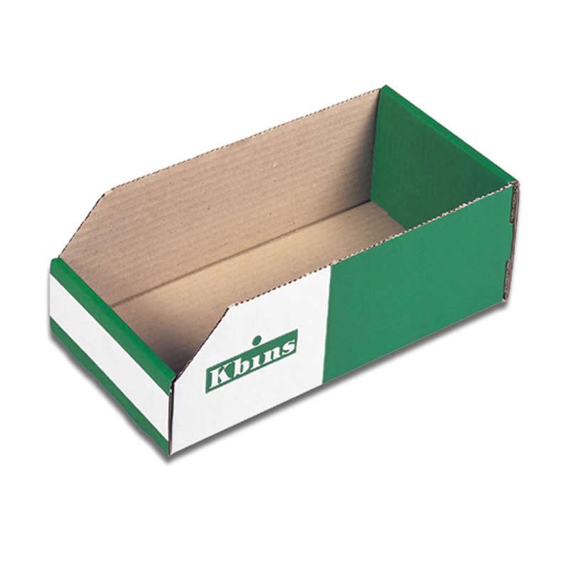 Cardboard Storage K-Bins 100mm High x 400mm Deep - 50 Pack
