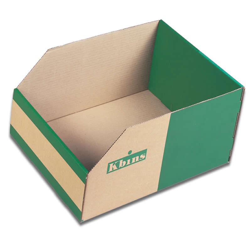 Jumbo Cardboard Storage K-Bins 200mm High x 450mm Deep - 25 Pack