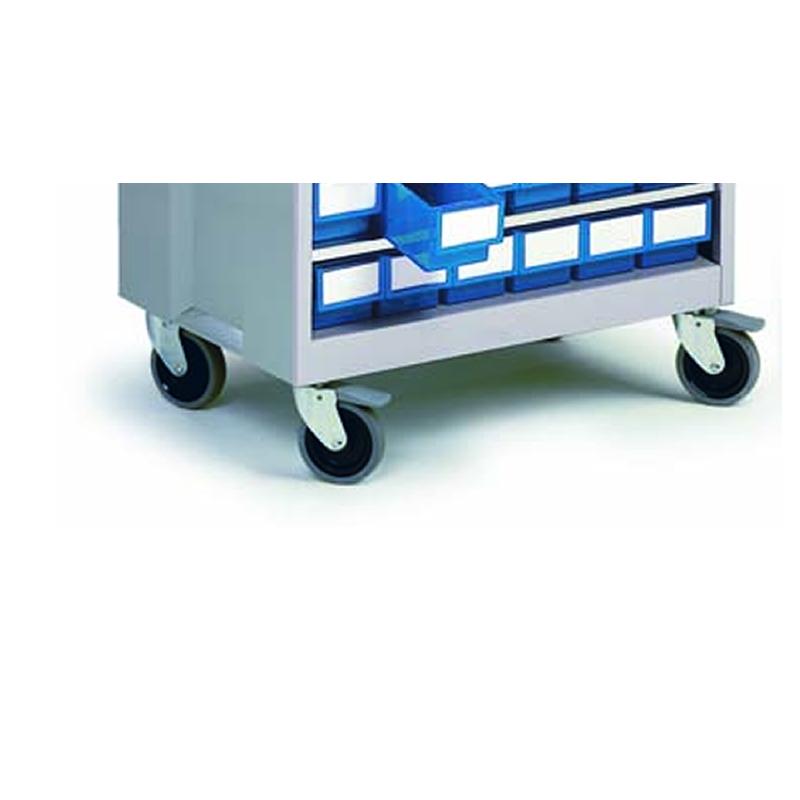 Castor Set for High Density Storage Cabinets