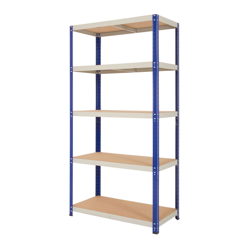 Quick Assembly Shelving - 5 Chipboard shelves