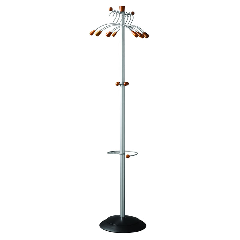 Coat Stand - 6 Coat Hangers and Umbrella Holder