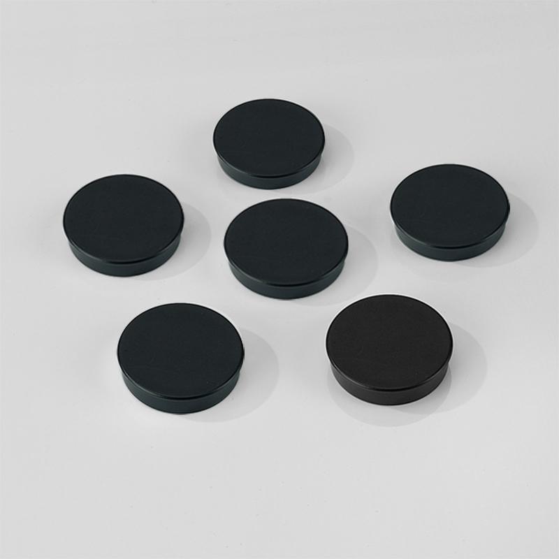 30mm Black Magnets - Pack Of 10