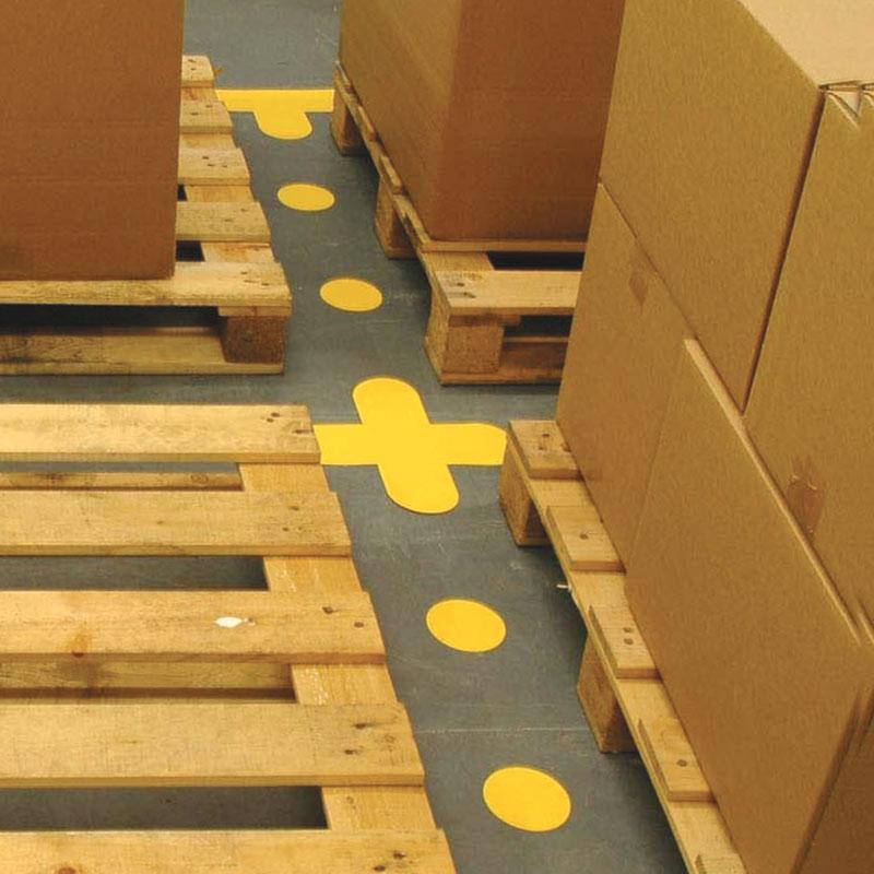 Cross Floor Signal Markers - 300mm x 300mm - Packs of 50