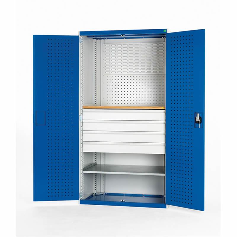 Cubio Mini Workshop - 4 Drawers 1 Shelf - 1050mm Wide