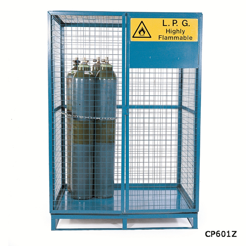 Cylinder Storage Lock-Up Cages with Pallet Base