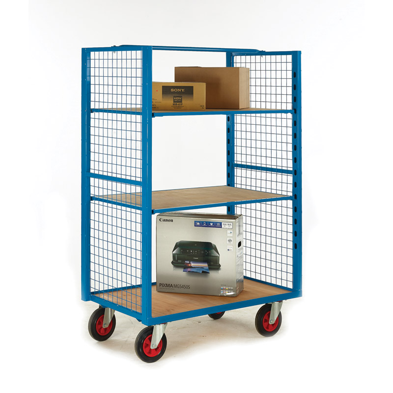 Heavy Duty Distribution Cage with Mesh Ends - Open Front & Back