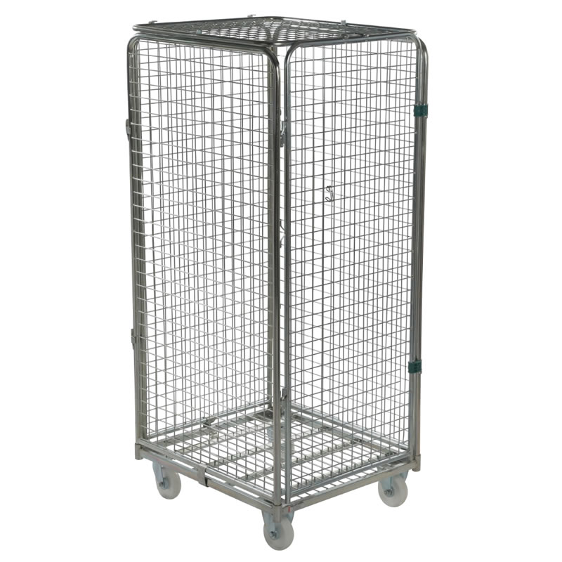 Security Demountable Roll Container - 4 Mesh Sided with Lid