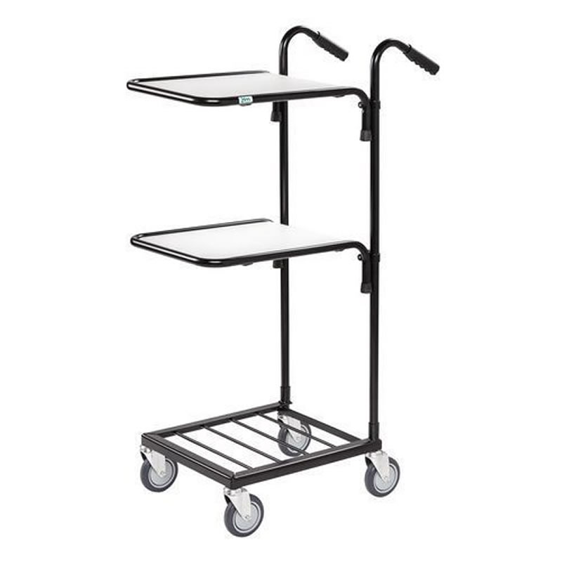 Distribution Trolley with 2 Upper Shelves