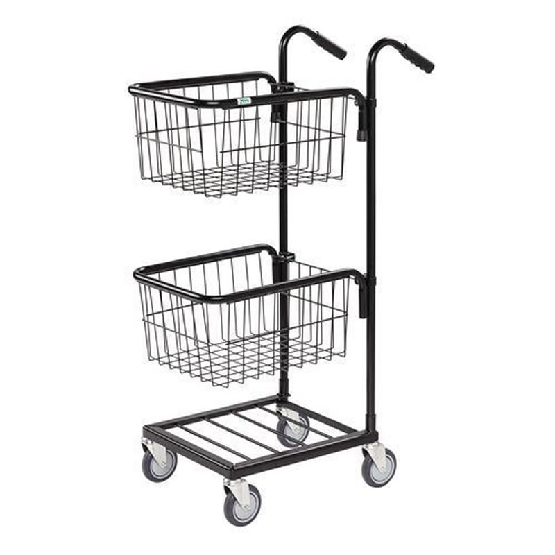Distribution Trolleys with 2 Upper Baskets