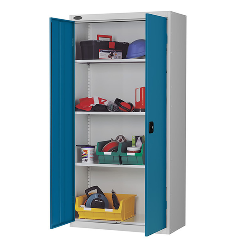 Double Door Storage Cupboard with 3 adjustable shelves