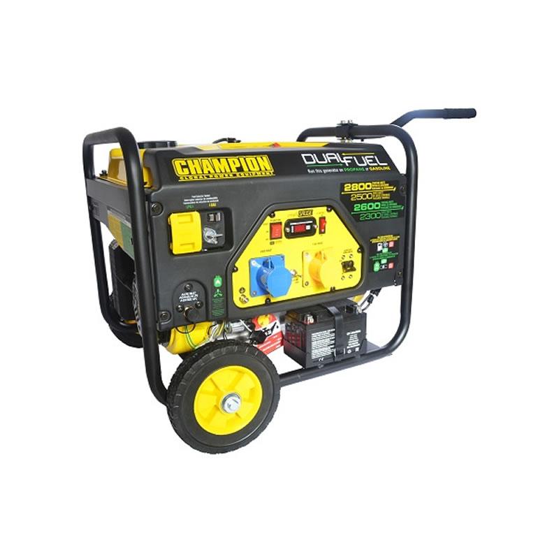 Champion Dual Fuel Generator - 2800 Watts - Electric