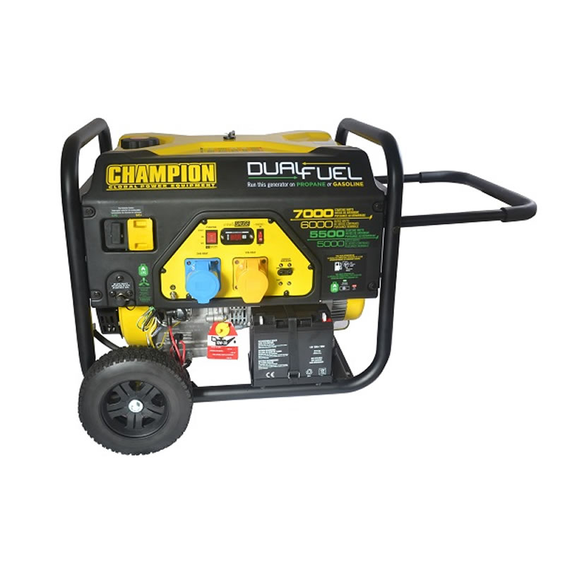Champion Dual Fuel Generator - 7000 Watts - Electric