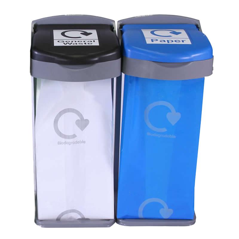 Deluxe Recycling Bins, 2  Bins Kit