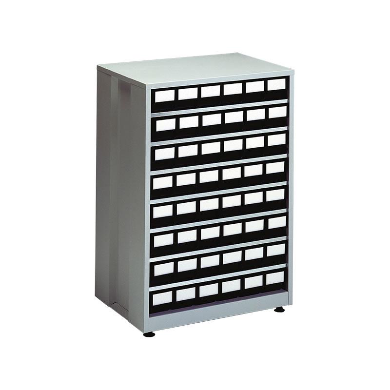 ESD High Density Storage Bin Cabinet - 48 Black Bins