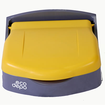 EcoDepo Deluxe Wall Mounted Recycling Bins