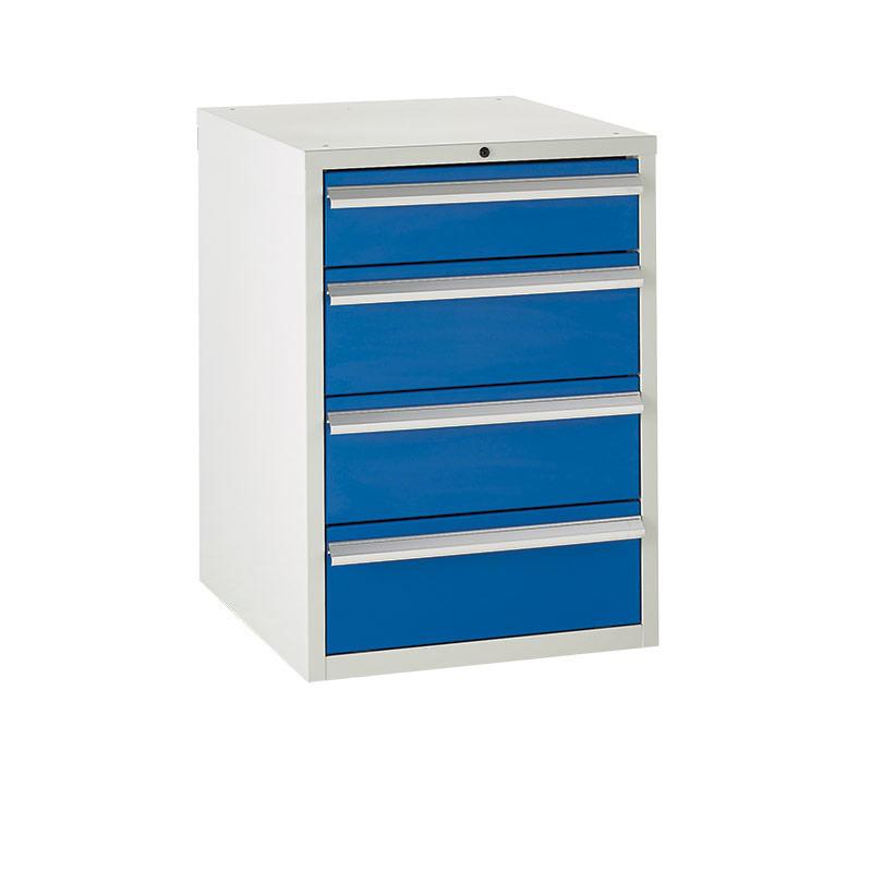 Euroslide Cabinet 600mm - 1 x 150mm, 3 x 200mm Drawers