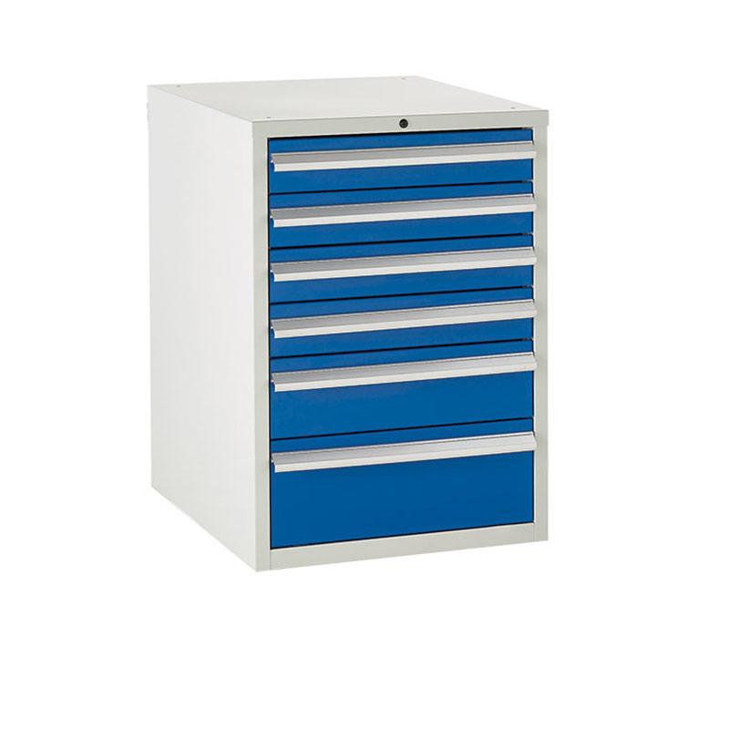 Euroslide Cabinet 600mm - 4 x 100mm, 1 x 150mm, 1 x 200mm Drawer