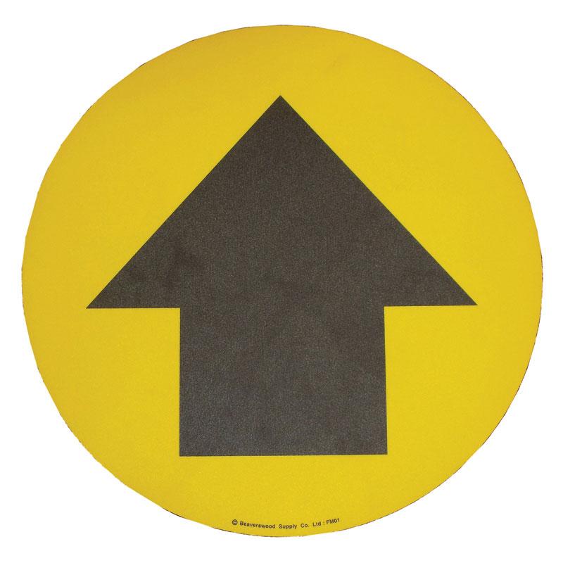 Floor Marker 430mm dia. Directional Arrow