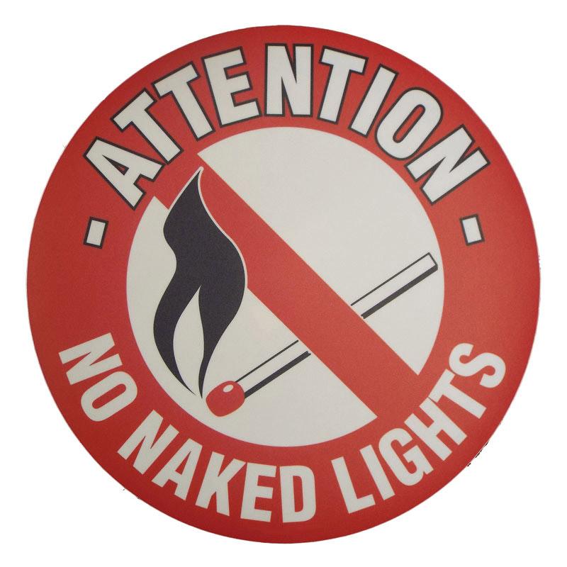 Floor Marker 430mm dia. No Naked Lights