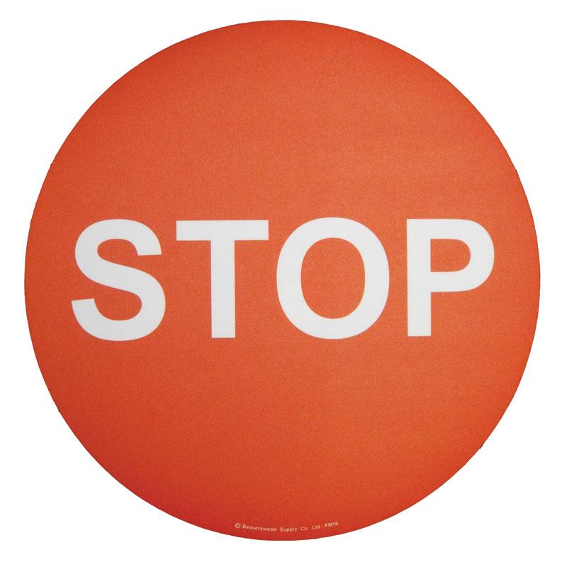 Floor marker sign: Stop