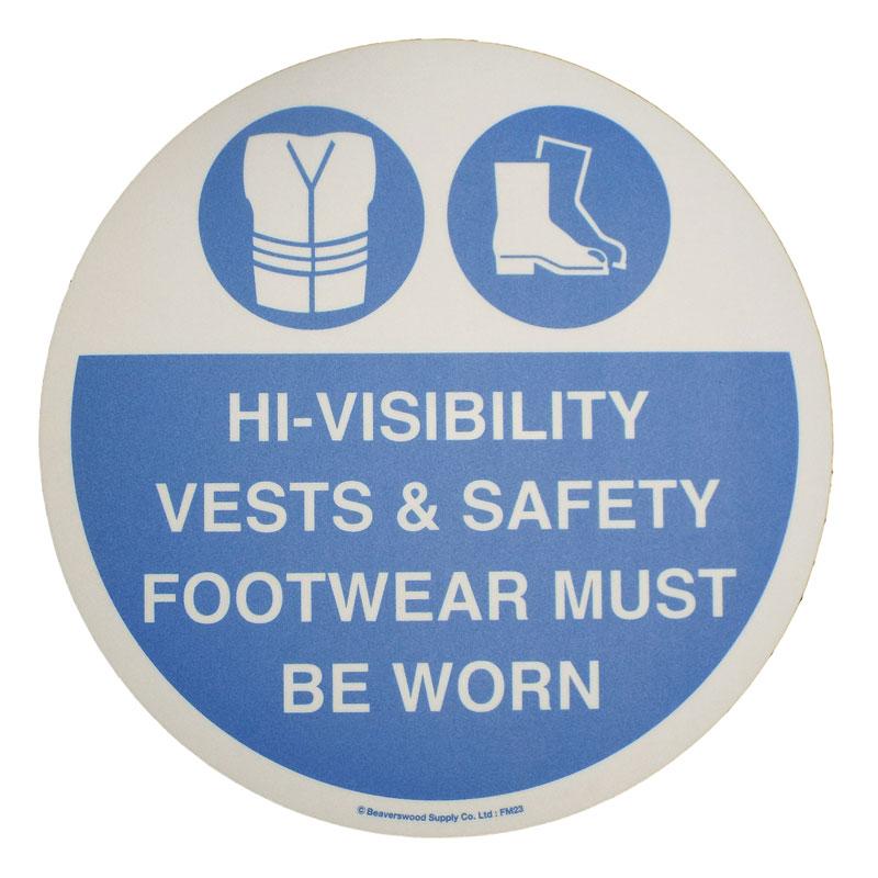 Floor Marker 430mm dia. Hi Visibility Vests & Safety Footwear..