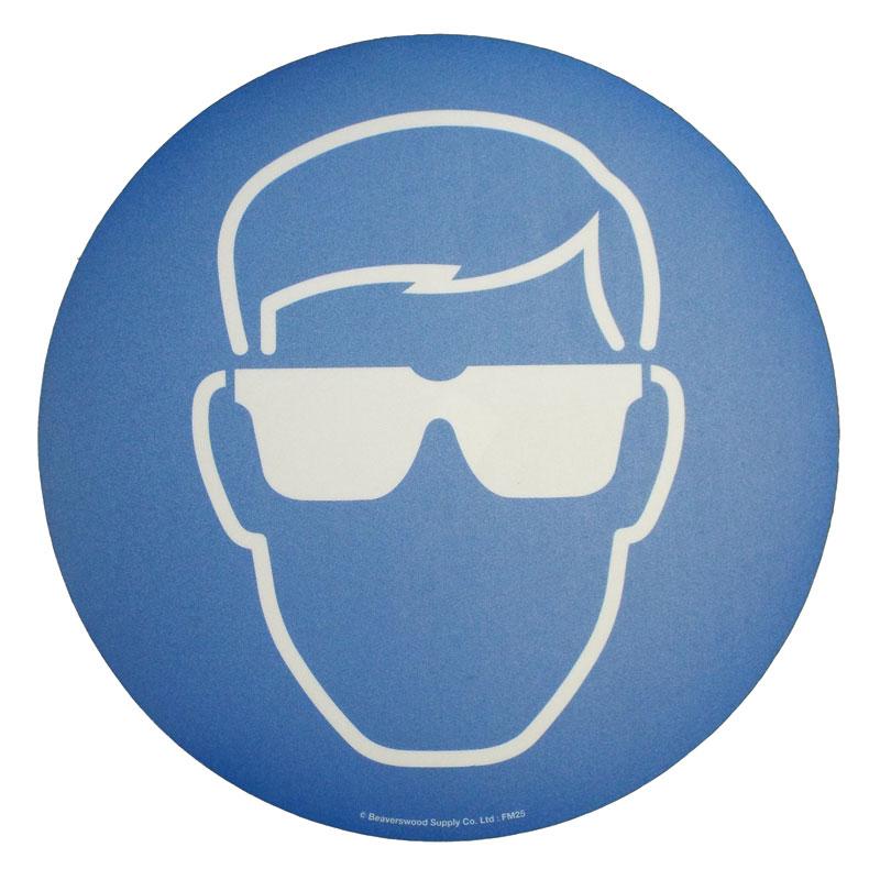 Floor Marker 430mm dia. Eye protection symbol
