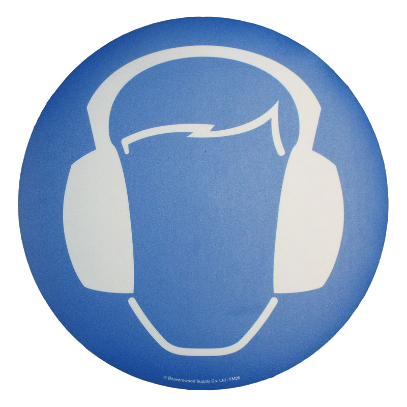 Floor Marker 430mm dia. Ear protection symbol
