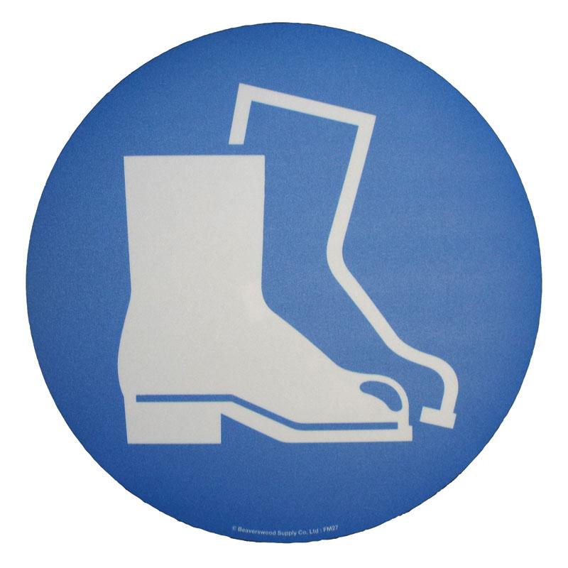Floor Marker 430mm dia. Protective Footwear Symbol