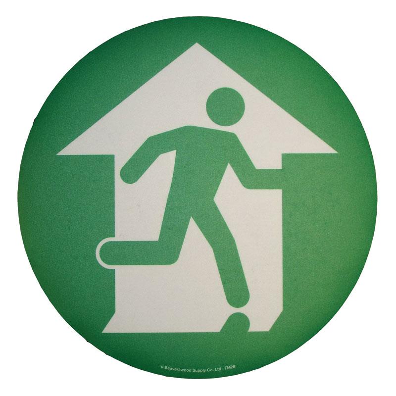 Floor Marker 430mm dia. Fire Exit Symbol