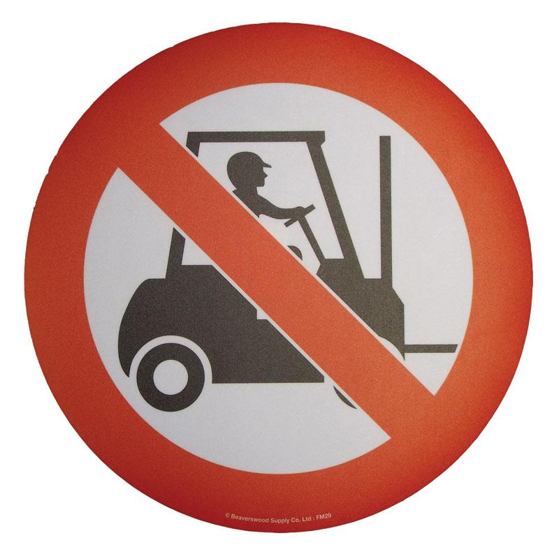 Floor Marker 430mm dia. No Forklift Trucks symbol