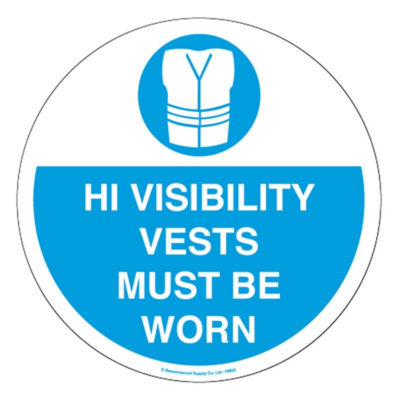 Floor Marker 430mm dia High Visibility Vests