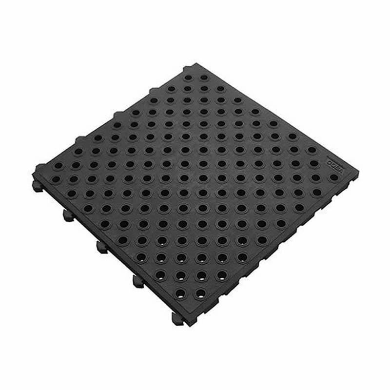 Fatigue-Lock Tile - Black - Holed