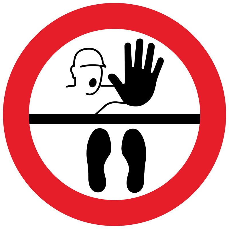 Floor Marker - Stop Keep Your Distance, graphic