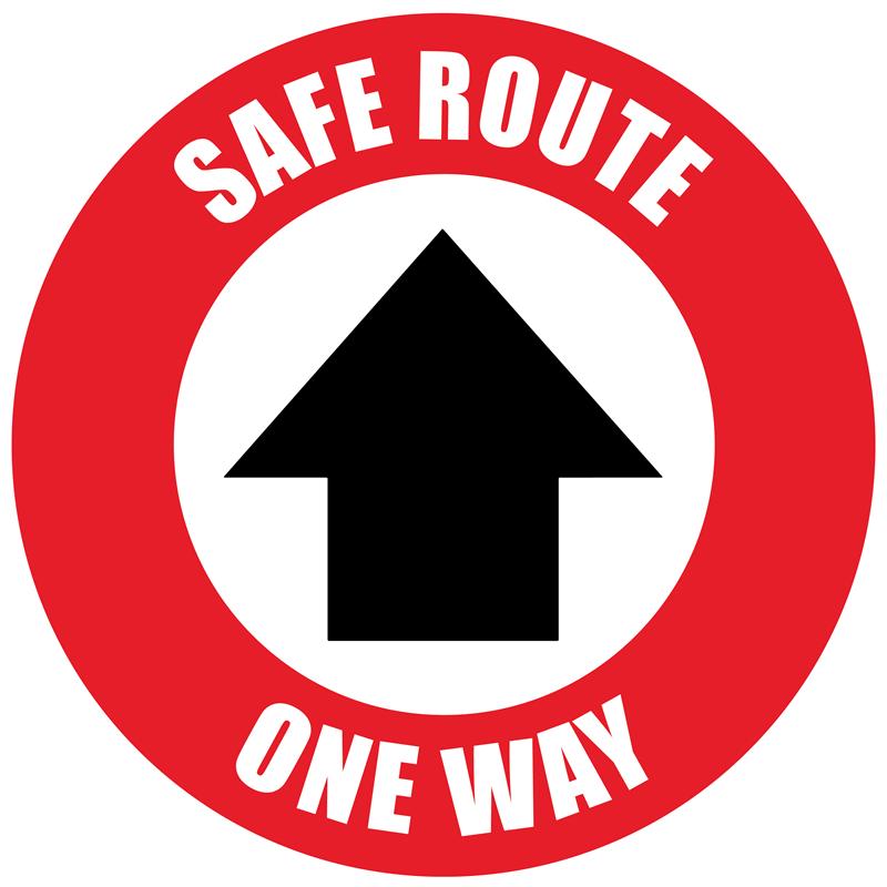 Floor Marker - Arrow, Safe Route One Way