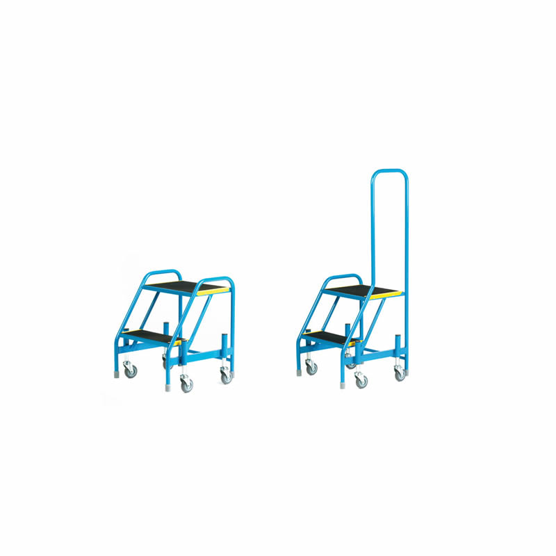Fort Mobile Step - Rubber Treads - 2 Step - No/Loop Handrail
