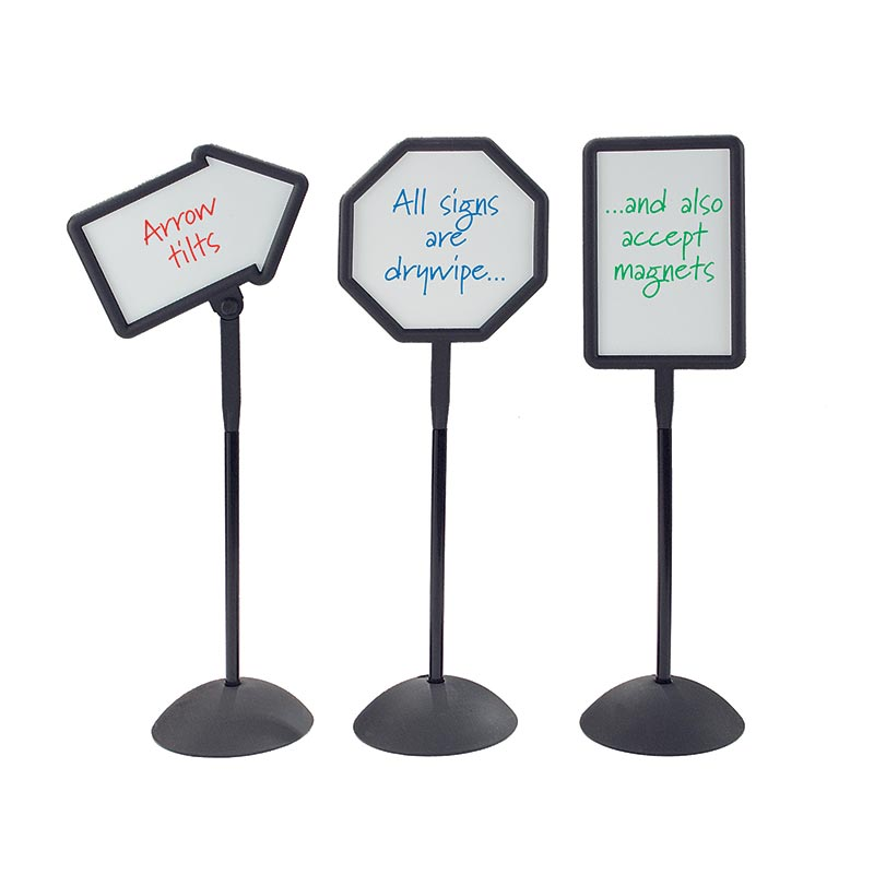 Freestanding Whiteboard Signs - Set Of 3