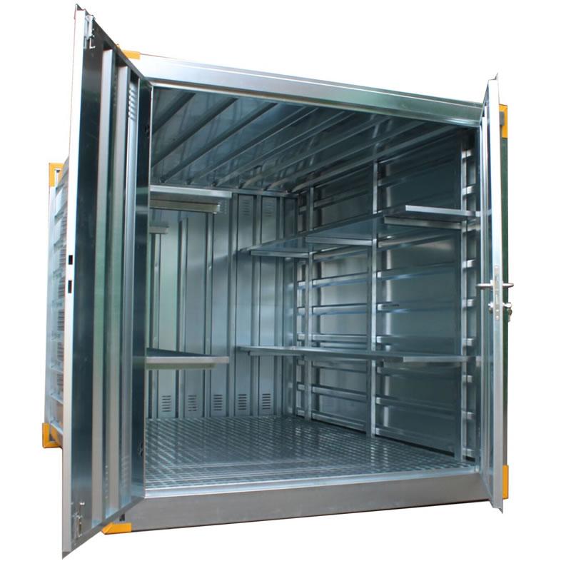 Galvanised Secure Chemical Storage Unit - 727 Litre Sump