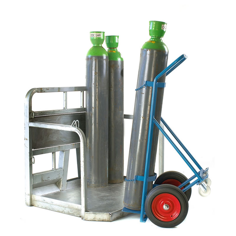 Cylinder Trolley with Lifting Plate