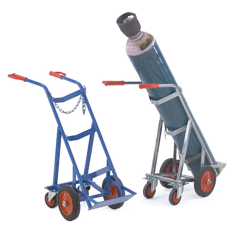 Gas Cylinder Trolleys with Rear Support Wheels