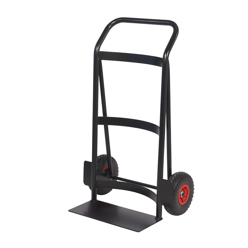 Heavy Duty Tubular Sack Truck - Wide Concave Back and Toe Plate