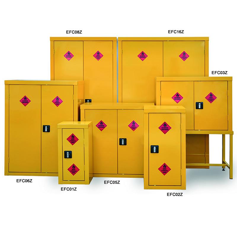 Hazardous Substance Cabinets - 1 Door and 1 Shelf