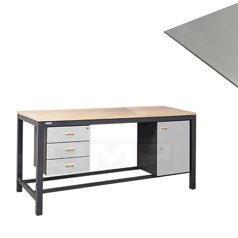 Heavy Duty Workbenches - Steel Plate Worktop