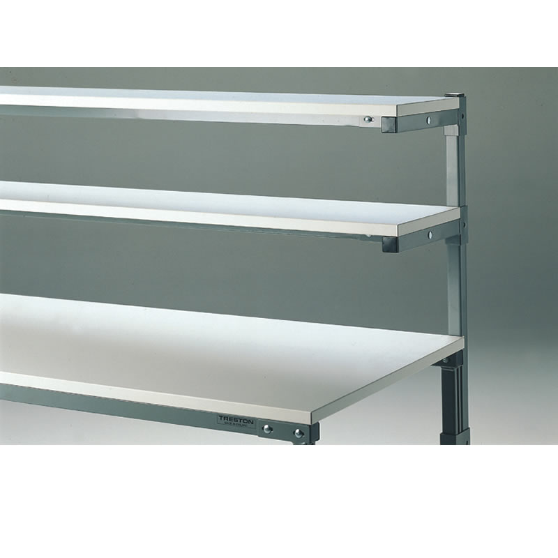 Auxiliary Shelves for Workbenches with Uprights and Shelf