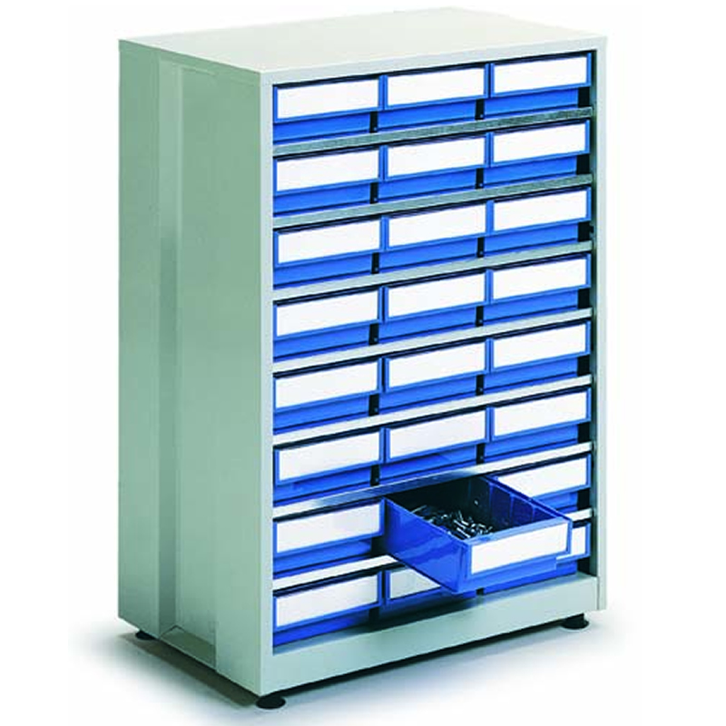 High Density Storage Cabinet - 24 Blue Bins